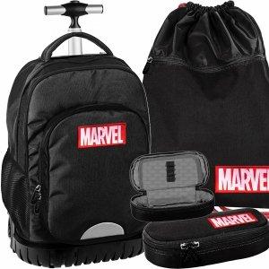 Marvel Duży Plecak z Kółkami Młodzieżowy Czarny [AMAR-1231]