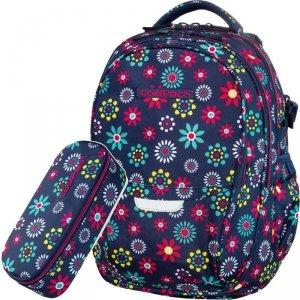CoolPack Młodzieżowy CP Plecak w Kwiaty Szkolny Piórnik [B02015]