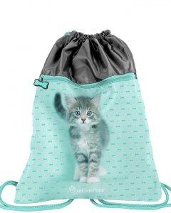 Duży Worek jak Plecak z Kotkiem na Obuwie Buty dla Dziewczyny [RLC-713]