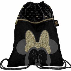 2 Komorowy Worek Myszka Mini Minnie Duży Czarny na Buty BeUniq  [DISG-713]
