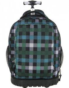 Plecak na Kółkach Młodzieżowy Zielony Szkolny [PLM19KB26]