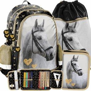 Plecak w Konie dla Dziewczynki do Szkoły Podstawowej [PP20H-081]