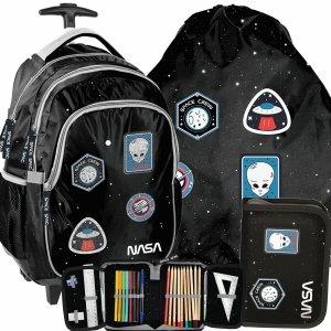 Plecak NASA na Kółkach Kosmiczny Szkolny dla Chłopaków Ufo [PP20NS-997]