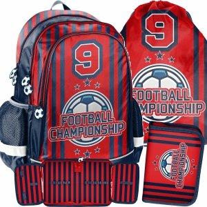 Piłka Nożna Zestaw 3w1 Plecak Szkolny dla Uczniów Football [PP21FO-081]