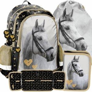 Plecak Dziewczęcy Koń Konie do Szkoły Nowoczesny Paso [PP20H-081]