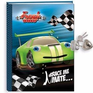 Pamiętnik Cars Auta z Autem Wyścigowym dla Chłopaka [604614]