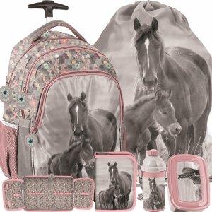 Plecaki z Kółkami Szkolne Konie Duży Zestaw [PP20KO-997]
