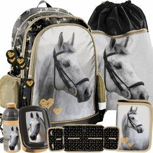 Siwy Koń Plecak dla Dziewczynki do Szkoły Paso [PP20H-081]
