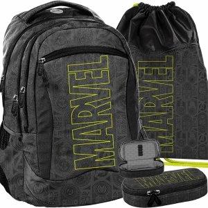 Szary Plecak Marvel dla Młodzieży Szkolny BeUniq Modny [AMAV-2808]