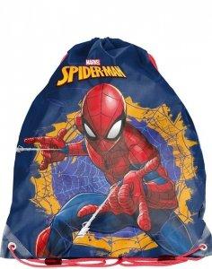 Worek Spiderman Szkolny na Obuwie na Kapcie [SPU-712]