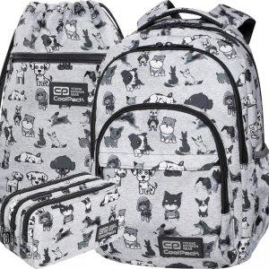 Plecak CoolPack Szkolny CP w Pieski Szary Młodzieżowy Patio Doggies [C03180]