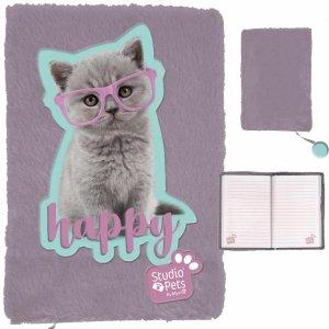 Pluszowy Pamiętnik z Kotkiem Kot dla Dziewczynki Paso [PTF-3670]