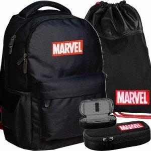Plecak Vintage Marvel Młodzieżowy Czarny Chłopięcy [AMAR-2705/16]