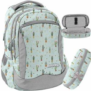 Nowoczesny Młodzieżowy Plecak w Kaktusy dla Dziewczyny BeUniq [PPGD20-2808]