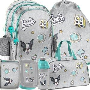 Plecak Szary dla Dziewczyny Barbie do Szkoły Komplet [BAR-081]