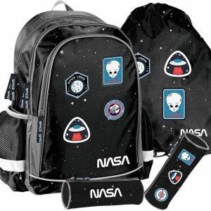 Chłopięcy Szkolny Plecak Nasa Kosmos Naszywki Ufo [PP20NS-081]