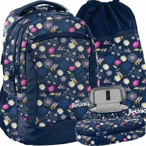 Nowy Modny Plecak w Kwiaty Młodzieżowy Szkolny dla Dziewczyny [PPSP20-2808]