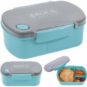 Śniadaniówka Pojemnik na Śniadanie Lunch Free BPA Turkusowa [SB4B38]