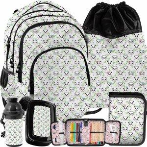 Plecak Paso dla Dziewczyny Misie Panda Komplet 5w1 [PP21PN-2706]