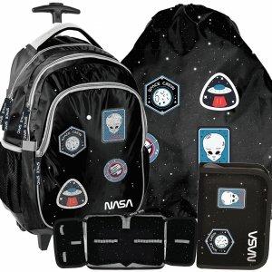 Plecak na Kołach Szkolny Nasa Kosmiczny Zestaw Czarny [PP20NS-997]