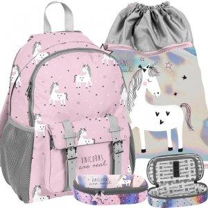 Duży Plecak Dziewczęcy Jednorożec Szkolny Różowy Unicorns [PP19UN-810]