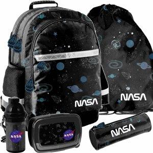 Plecak Szkolny dla Chłopaków NASA Czarny dla Uczniów zestaw 5w1 [PP21NS-116]