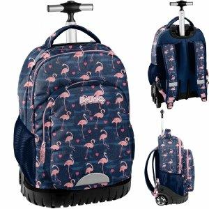 Duży Plecak na Kółkach Flamingi Młodzieżowy Szkolny [PPNG20-1231]