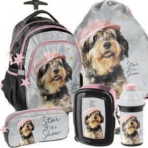 Plecak z Kółkami z Pieskiem Szkolny dla Dziewczyny [RLF-997]
