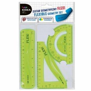 Flexi Zestaw Geometryczny 3 Elementy 15 cm Kidea Zielony [ZGF15CM3KA]