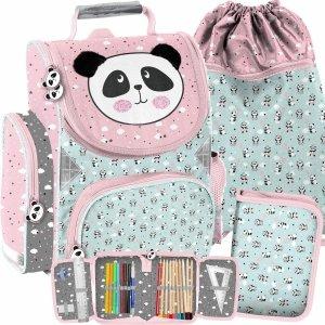 Dziecięcy Tornister do Szkoły Podstawowej dla Dziewczynek Miś Panda [PP21PD-525]