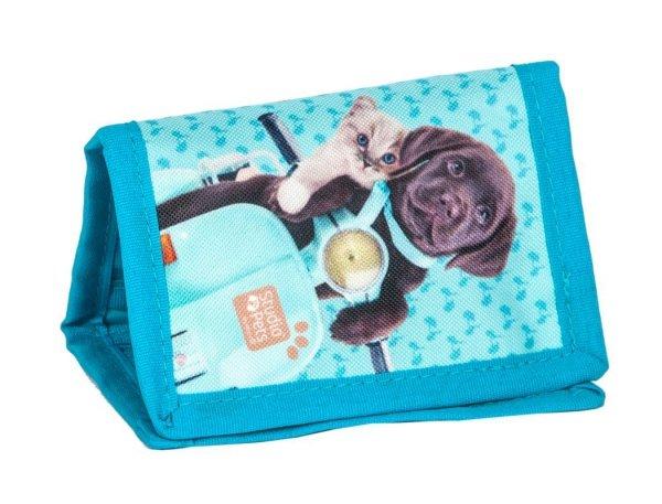 Portfel z Pieskiem Kotkiem Dziecięcy Portfelik dla Dziewczynki