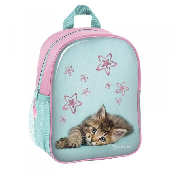 Plecak do Przedszkola Plecaczek z Kotem na Wycieczki dla Dziewczynki RHS-303