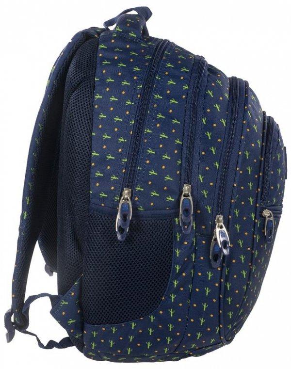 Plecak Młodzieżowy BackUP Szkolny Kaktusy [PLB1B7]