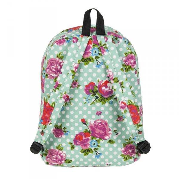 Plecak Vintage w Róże Młodzieżowy Szkolny Kwiaty dla Dziewczyny