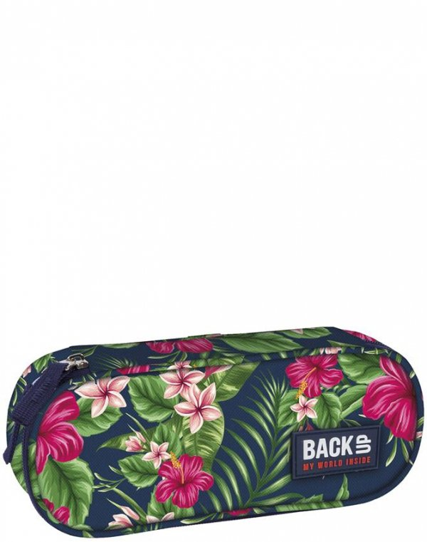Plecak Back UP Piórnik Młodzieżowy Szkolny w Kwiaty [PLB1A12]
