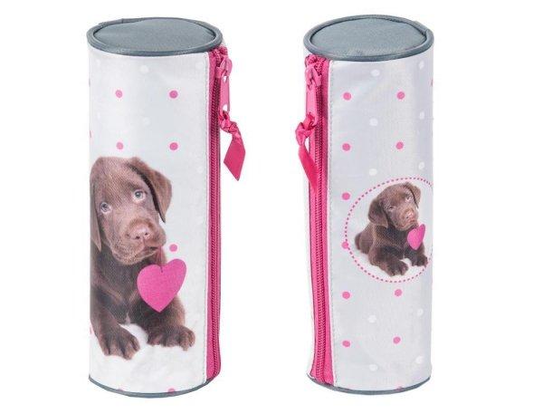 Piórnik Pies Labrador Szkolny Tuba dla Dziewczyny RHP-003