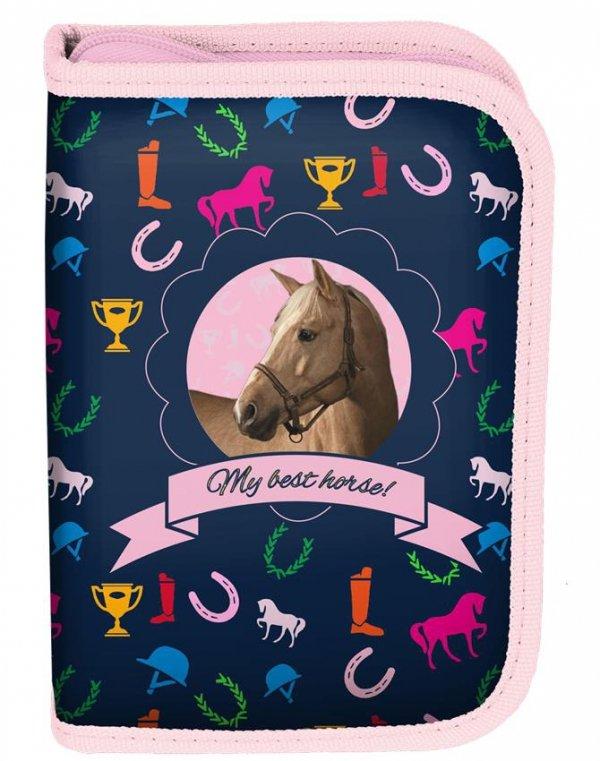 Piórnik Koń Szkolny dla Dziewczynki [PPKM18-001BW]