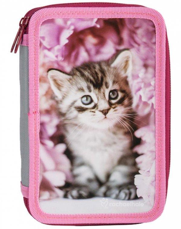 Plecak na Kółkach Kotek Kot Szkolny Zestaw dla Dziewczynki [RAM-1220]