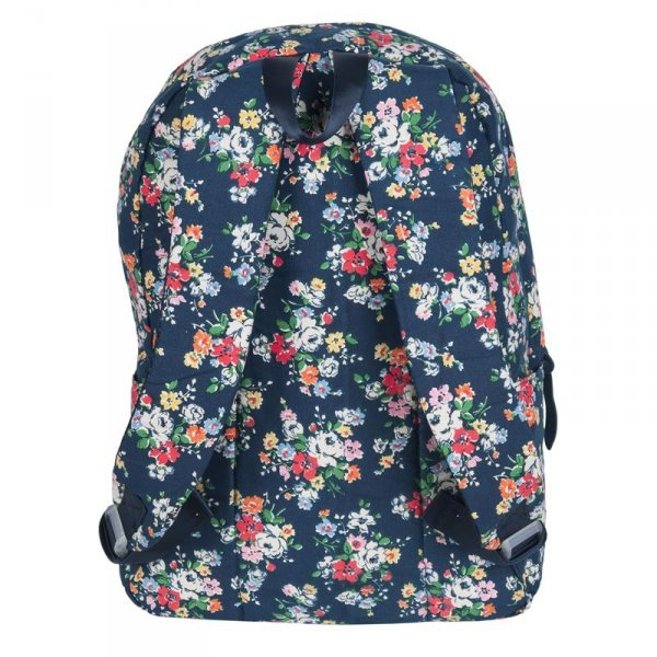 Plecak Vintage dla Dziewczyny Młodzieżowy Szkolny Kwiaty 17-223B