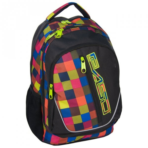 Plecak Szkolny Młodzieżowy Kolorowa Kratka [14-367A]