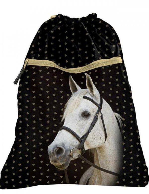 Worek Szkolny na Obuwie Koń dla Dziewczyny [18-713HS]