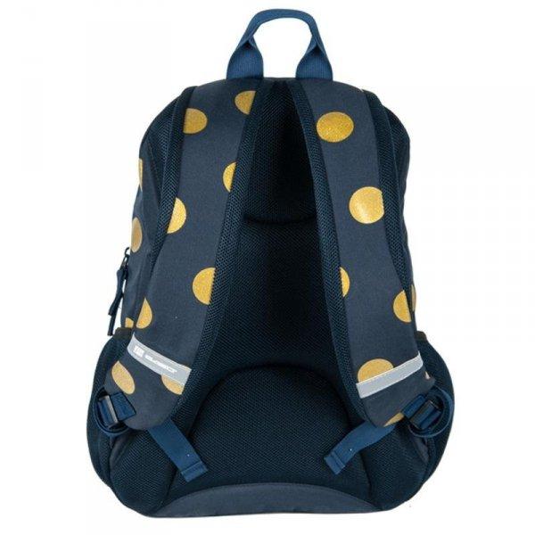 Plecak Młodzieżowy dla Dziewczyny Szkolny Granatowy w Złote Koła