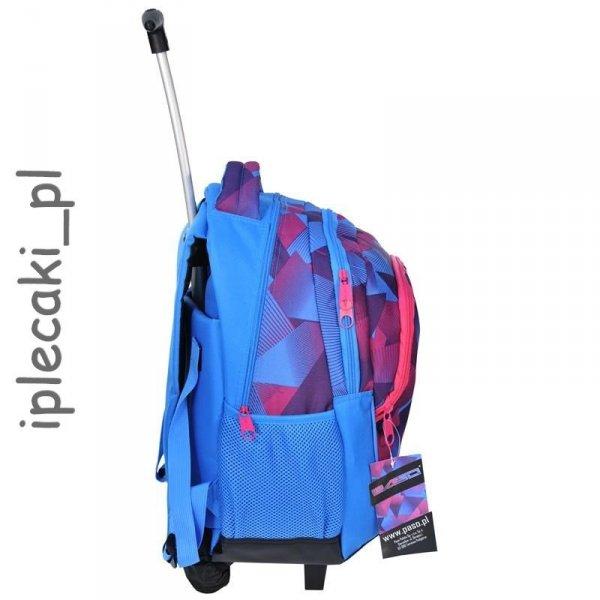 Plecak na kółkach Szkolny Młodzieżowy Niebieski 81-997A