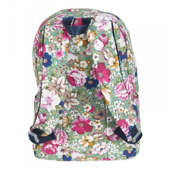 Plecak dla Dziewczyny Vintage Łąka Młodzieżowy Szkolny Kwiaty 17-223D