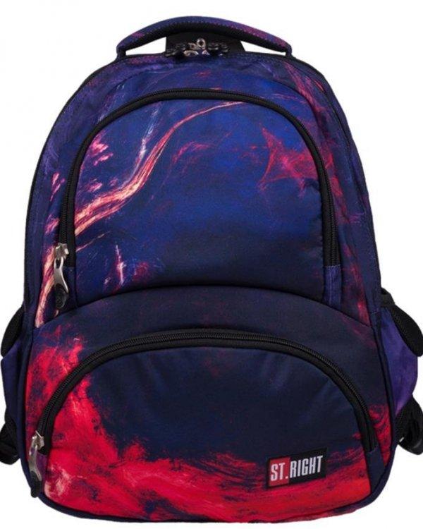 Plecak Flames Płomienie St.Right Młodzieżowy Szkolny [BP7]