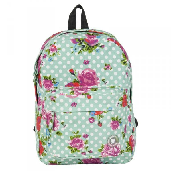 Plecak Vintage w Róże Młodzieżowy Szkolny Kwiaty dla Dziewczyny17-780M