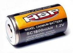 Akumulator grzałka do świec Ni-Cd 1,2V 1800mAh HSP