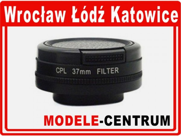 Filtr CPL 37mm + dekielek GoPro Hero 4 3+ 3
