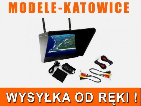 """Monitor Black Pearl LCD 7"""" 1024x600 - Dwa Odbiorni"""