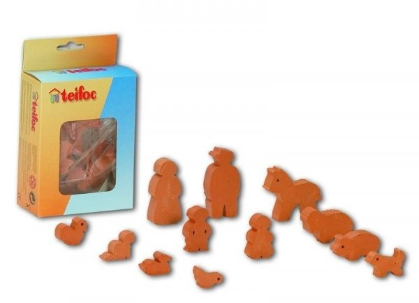 TEIFOC 900001 Cegiełki Postacie Figury Zwierzątka